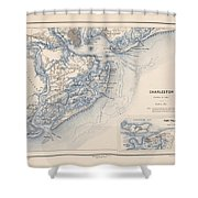Map Of Charleston Shower Curtain