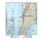 Map Of Chile 2  Shower Curtain
