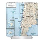 Map Of Chile Shower Curtain