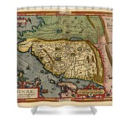 Map Of China 1590 Shower Curtain