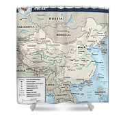 Map Of China 2 Shower Curtain