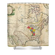 Map Of Colonial North America  Shower Curtain