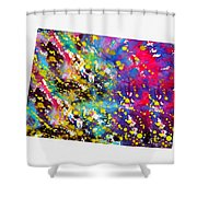 Map Of Colorado-colorful Shower Curtain