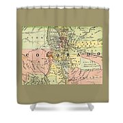 Map Of Colorado Shower Curtain