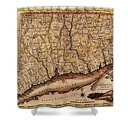 Map Of Connecticut 1795 Shower Curtain