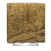 Map Of Connecticut 1797 Shower Curtain
