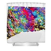 Map Of Connecticut-colorful Shower Curtain