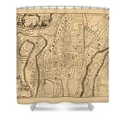 Map Of Cork 1771 Shower Curtain