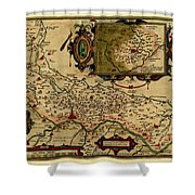 Map Of Cremona 1579 Shower Curtain