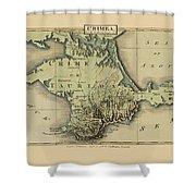 Map Of Crimea 1815 Shower Curtain