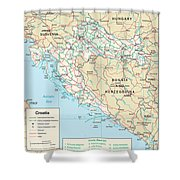Map Of Croatia Shower Curtain