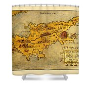 Map Of Cyprus 1562 Shower Curtain