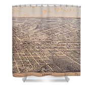 Map Of Dallas 1872 Shower Curtain