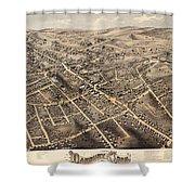 Map Of Danbury 1875 Shower Curtain
