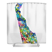 Map Of Delaware-colorful Shower Curtain