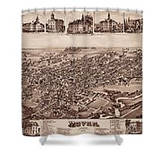 Map Of Dover 1885 Shower Curtain