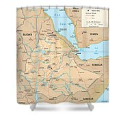 Map Of Ethiopia Shower Curtain