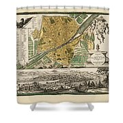 Map Of Florence 1731 Shower Curtain