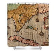 Map Of Florida 1591 Shower Curtain