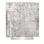 Map Of Franklin County Ohio 1883 Shower Curtain