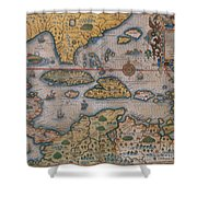 Map Of Gulf Of Mexico And C Shower Curtain