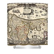 Map Of Holland 1630 Shower Curtain