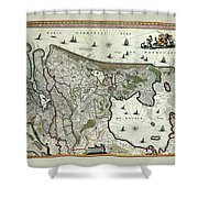 Map Of Holland 1682 Shower Curtain