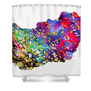 Map Of Hungary-colorful Shower Curtain