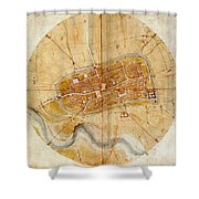Map Of Imola 1502 Shower Curtain