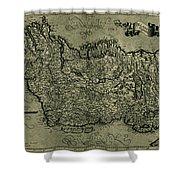 Map Of Ireland 1771 Shower Curtain