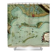 Map Of Jamaica 1756 Shower Curtain