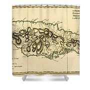 Map Of Jamaica Shower Curtain