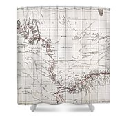 Map Of Livingstones Route Across Shower Curtain