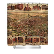 Map Of Los Angeles 1891 Shower Curtain