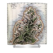 Map Of Mauritius Shower Curtain