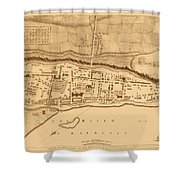 Map Of Montreal 1758 Shower Curtain