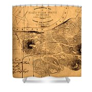 Map Of Nashville 1860 Shower Curtain