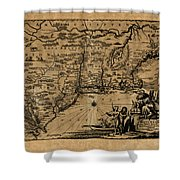 Map Of New York 1600 Shower Curtain