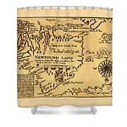 Map Of Newfoundland 1625 Shower Curtain