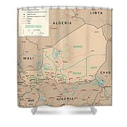 Map Of Niger Shower Curtain