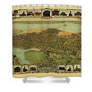 Map Of Oakland 1900 Shower Curtain