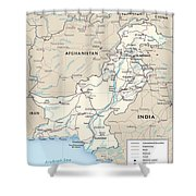 Map Of Pakistan Shower Curtain
