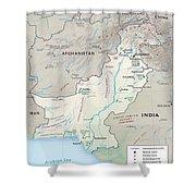 Map Of Pakistan2  Shower Curtain