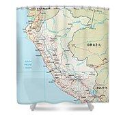 Map Of Peru 2 Shower Curtain