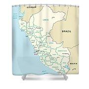 Map Of Peru Shower Curtain