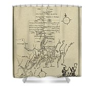 Map Of Plymouth Shower Curtain