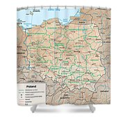 Map Of Poland Shower Curtain