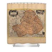 Map Of Rheims 1636 Shower Curtain
