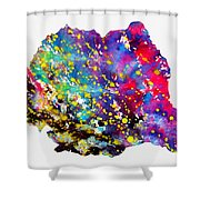 Map Of Romania-colorful Shower Curtain