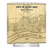 Map Of Saint Paul 1852 Shower Curtain
